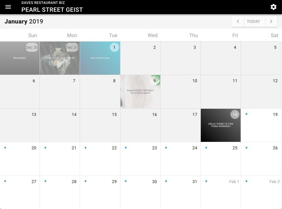 Daily Special Calendar