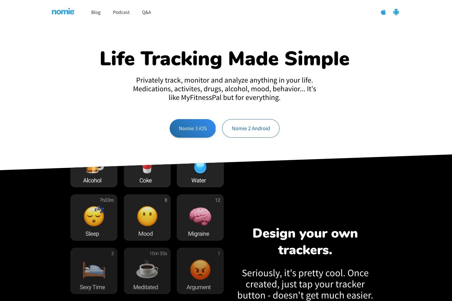 Nomie Website Design