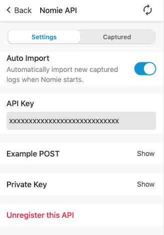 Nomie API