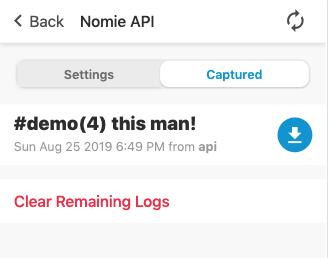 Nomie API Captured