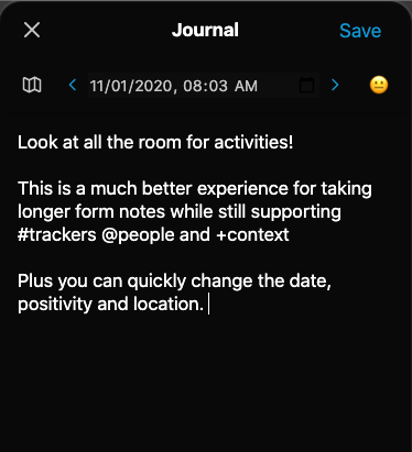 Nomie 5.5 Journal Mode
