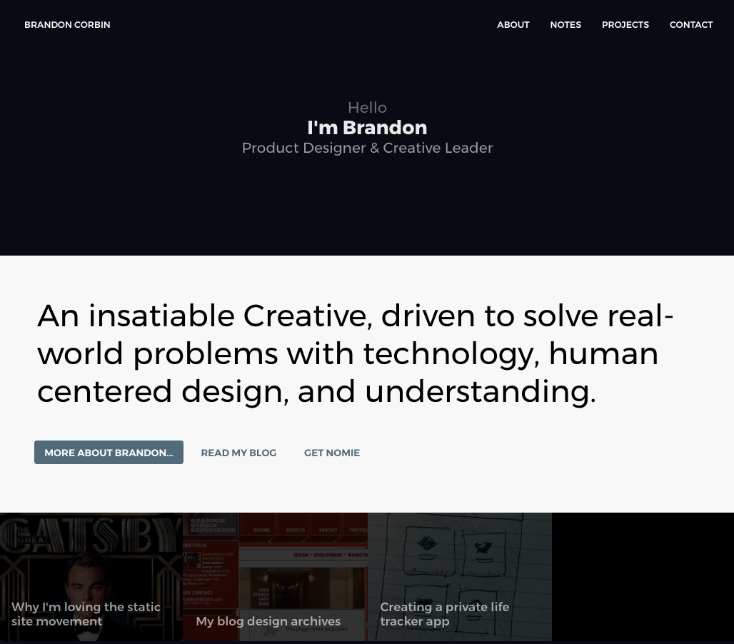 Brandon Corbin Web Design 2019